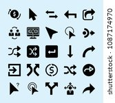 filled set of 25 arrows icons... | Shutterstock .eps vector #1087174970