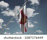 england flag silk waving flag... | Shutterstock . vector #1087176449