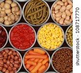 different kinds of vegetables... | Shutterstock . vector #108717770