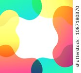 abstract colorful overlay... | Shutterstock .eps vector #1087180370