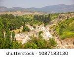 the ancient city of ephesus... | Shutterstock . vector #1087183130