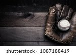 a group of vintage baseball... | Shutterstock . vector #1087188419