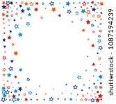 patriotic american stars... | Shutterstock .eps vector #1087194239
