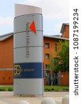 Small photo of Birmingham, United Kingdom - May 13, 2016: Logo of the Aston University in Birmingham, United Kingdom.
