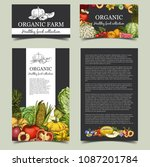 sides of organic market banner...   Shutterstock .eps vector #1087201784