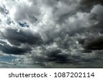 beautiful storm sky with clouds ... | Shutterstock . vector #1087202114