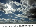 blue sky with clouds. white... | Shutterstock . vector #1087202120