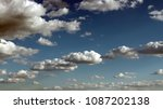 blue sky with clouds. white... | Shutterstock . vector #1087202138