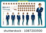 people character business set.... | Shutterstock .eps vector #1087203500