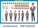 people character business set.... | Shutterstock .eps vector #1087204010