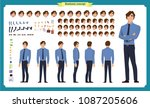 people character business set.... | Shutterstock .eps vector #1087205606