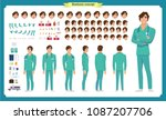 front  side  back view animated ... | Shutterstock .eps vector #1087207706