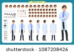 scientist character creation... | Shutterstock .eps vector #1087208426