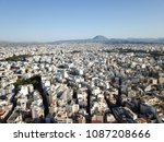drone aerial view on heraklion  ... | Shutterstock . vector #1087208666