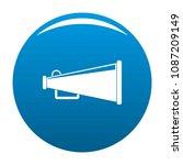 bullhorn icon. flat... | Shutterstock .eps vector #1087209149