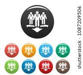 teamwork icon. simple... | Shutterstock .eps vector #1087209506
