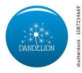 fluffy dandelion logo icon.... | Shutterstock .eps vector #1087214669