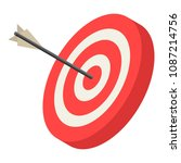 Red Archery Target Icon....