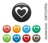 huge heart icon. simple...   Shutterstock .eps vector #1087215956