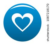 huge heart icon. simple... | Shutterstock .eps vector #1087218170