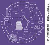 scientific  education elements. ... | Shutterstock .eps vector #1087220699