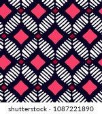 vector african pattern ... | Shutterstock .eps vector #1087221890