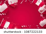 28th of july. peru independence ... | Shutterstock .eps vector #1087222133