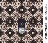 batik jogja ceplok sawot | Shutterstock .eps vector #1087222313