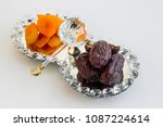 sweet dry date fruit and...
