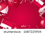 17 august. indonesia... | Shutterstock .eps vector #1087225934