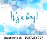 baby gender reveal concept... | Shutterstock .eps vector #1087256729