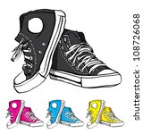 sneakers | Shutterstock .eps vector #108726068