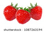 strawberry isolated on white... | Shutterstock . vector #1087263194