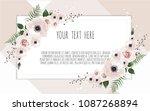 vector floral design card.... | Shutterstock .eps vector #1087268894