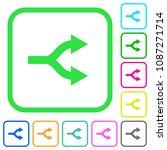 split arrows vivid colored flat ... | Shutterstock .eps vector #1087271714