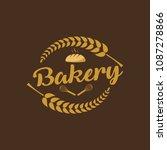 bakery logo vector badge labels | Shutterstock .eps vector #1087278866