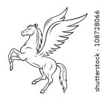 pegasus horse | Shutterstock .eps vector #108728066