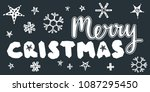 merry christmas caption with... | Shutterstock . vector #1087295450