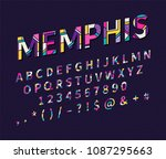 pop art memphis style font for... | Shutterstock . vector #1087295663