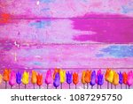 Pink Colorful Tulips Background ...