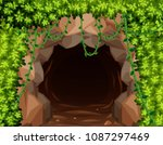mystery mine cave in nature... | Shutterstock .eps vector #1087297469