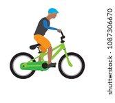 man riding a bike   Shutterstock .eps vector #1087306670