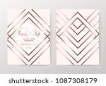 luxury marble wedding design... | Shutterstock .eps vector #1087308179