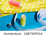 diy concept. sewing supplies ... | Shutterstock . vector #1087309514