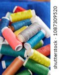 diy concept. sewing supplies ... | Shutterstock . vector #1087309520