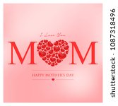 mothers day vector illustration | Shutterstock .eps vector #1087318496