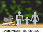 paper dolls  parents and... | Shutterstock . vector #1087320329