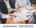 teamwork of business colleagues ... | Shutterstock . vector #1087323353