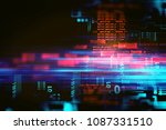 programming code abstract... | Shutterstock . vector #1087331510