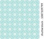 abstract seamless circular link ... | Shutterstock .eps vector #1087339799